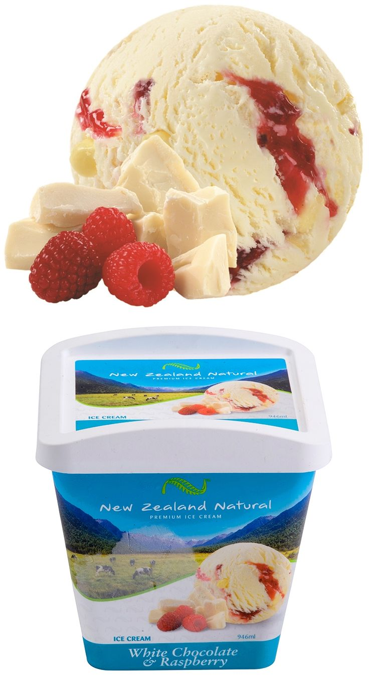 White Chocolate & Raspberry - 125ml, 946ml & 6L #whitechocolate #raspberry  #icecream #newzealandicecream #newzealand