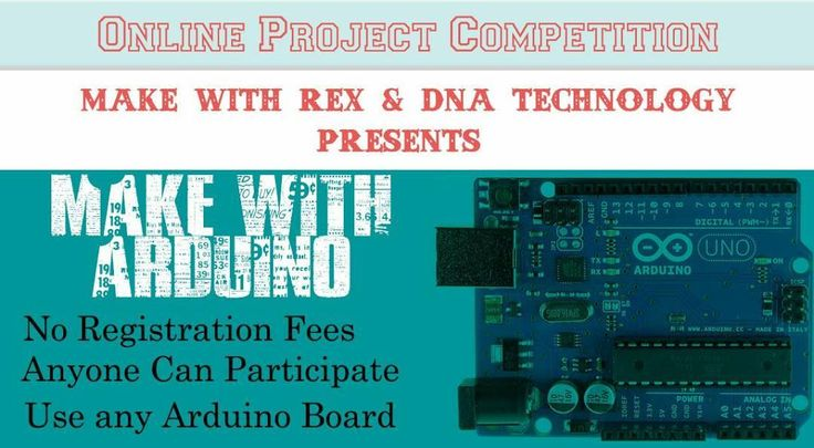 """""""Make with Arduino"""" online project contest. Tag your friend who may be interested in participating in this event more details at dnatechindia.com. Registration now open #arduino #onlinecontest #contest #India #nashik #prizestobewon by crazyelectronicsguy"""