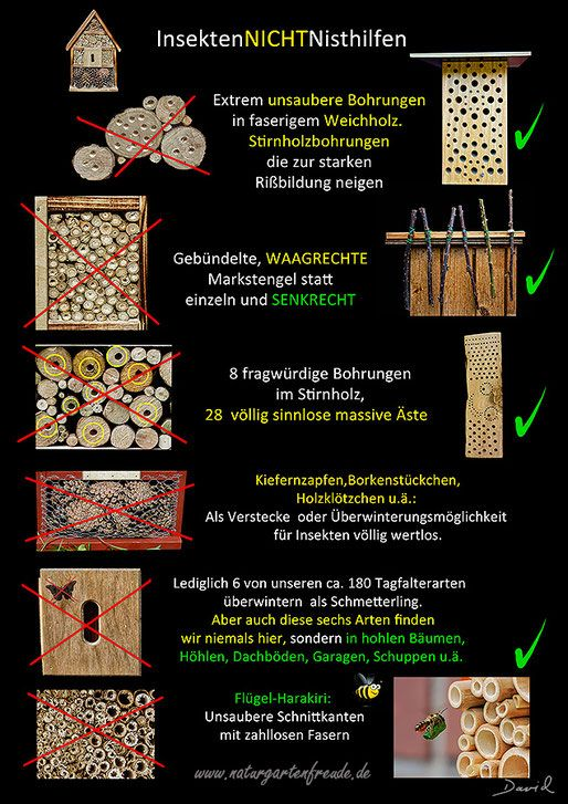 Schautafel  poster Nisthilfe insect nisting aid Insektenhotel insect hotel Wildbiene wild bee Neudorff bug house