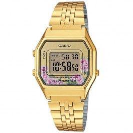 b1b29ea65c25 Casio Youth Vintage Gold Flower Watch LA680WGA-4 LA680WGA ...