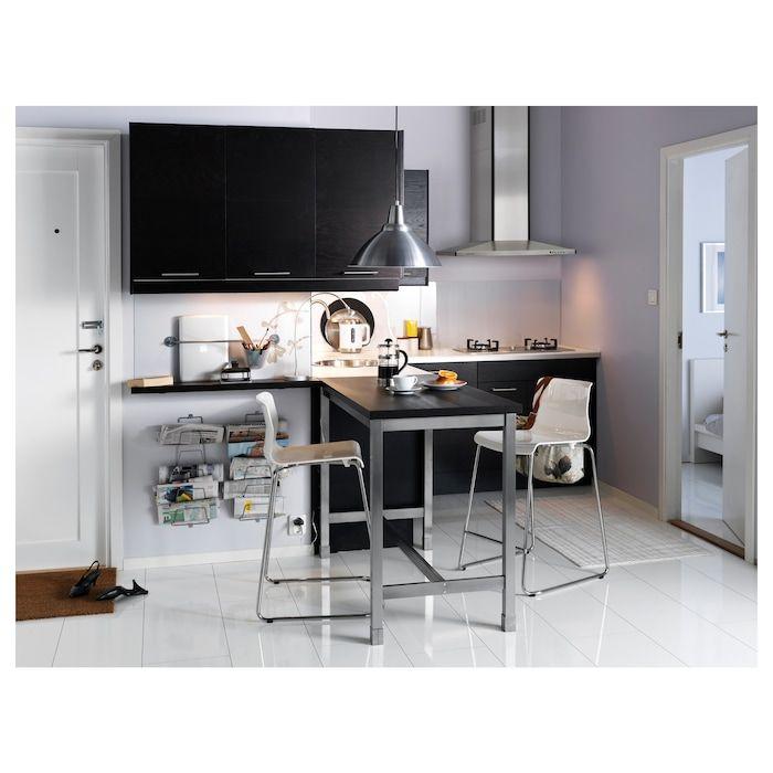 Utby Bartisch Braunschwarz Edelstahl Ikea Deutschland Dining Room Small Wood Bar Table Bar Table Ikea