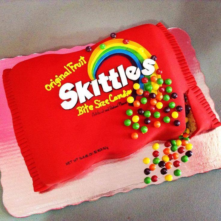 Pastel de skittles!