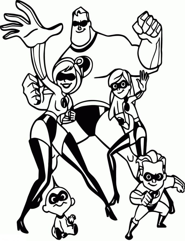 The Incredibles Coloring Pages for Children 101 Coloring