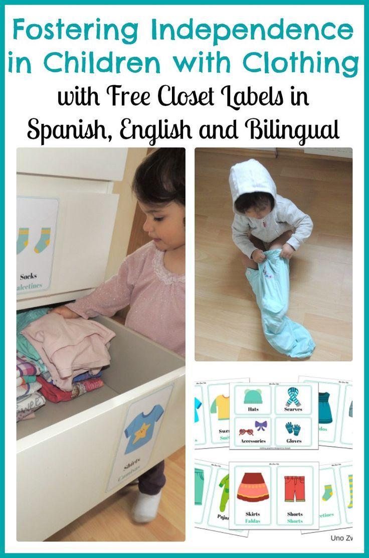 Put Away Clothes En Espanol ~ Ideas about closet labels on pinterest linen
