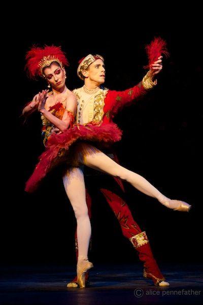 "Mara Galeazzi (Firebird) & Edward Watson (Prince Ivan) with The Royal Ballet in #""The Firebird"""