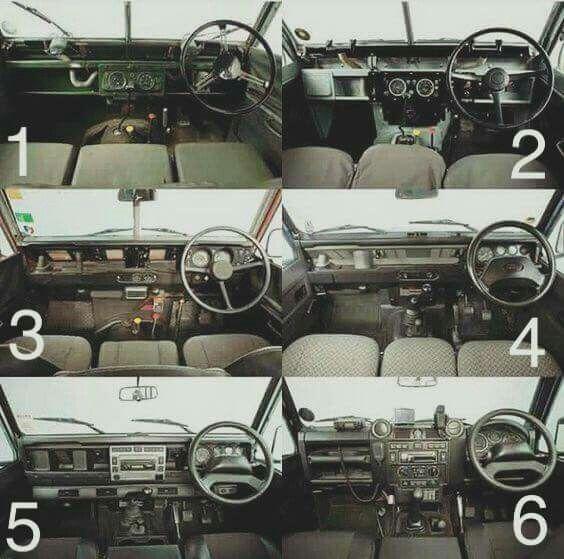Land Rover Series and Defender interior design evolution. Series II. IIA. III and Defender Tdi. Td5. Td4( the last production). Lobezno