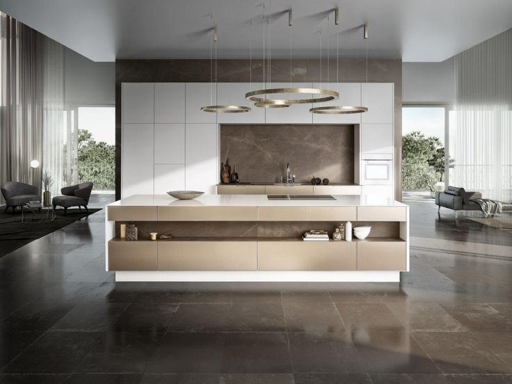 SieMatic PURE / SE 3003 R: The soft glint of metal, the sensitive nuances of matt lacquer colors and woods, the delicate 6.5 mm look of the door frame and StoneDesign countertops: SieMatic has developed a new design language for the kitchen. With combinations of materials that can be selected individually, kitchen design in the SieMatic PURE style collection provides new, expressive possibilities, as seen in this example of a spacious, seemingly handleless SieMatic SE 3003 R.