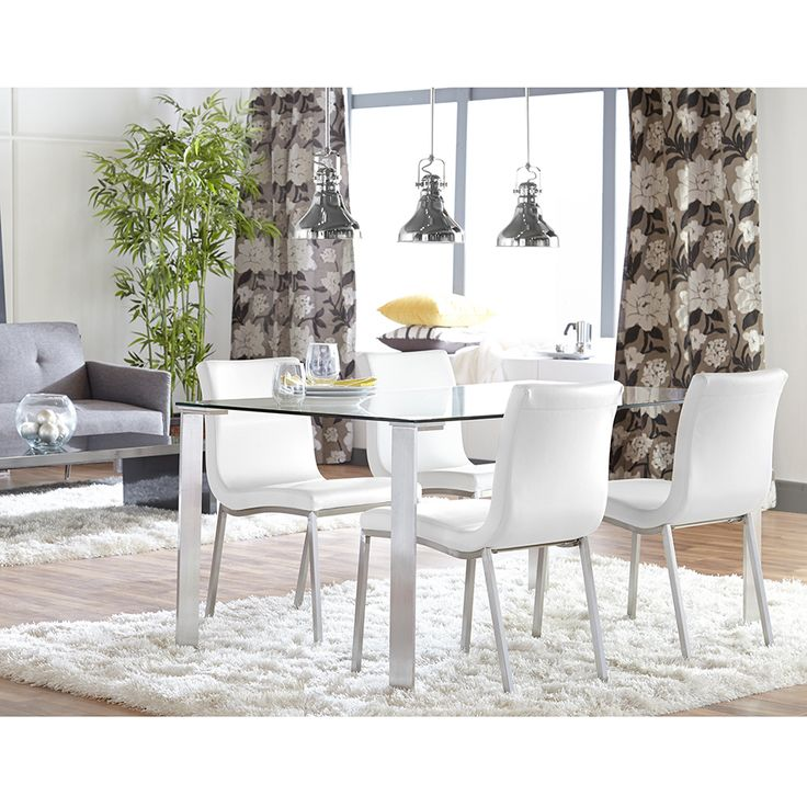 $160 Each  Smith Contemporary White Dining Chair