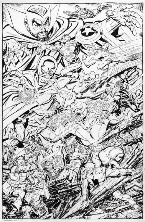 Avengers King Size Special Annual #1 commission by John Byrne. 2010.