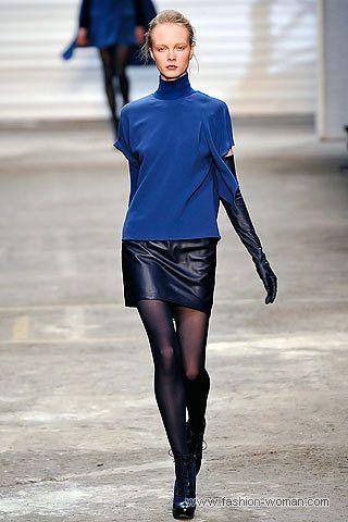 модная кожаная мини-юбка осень 2010