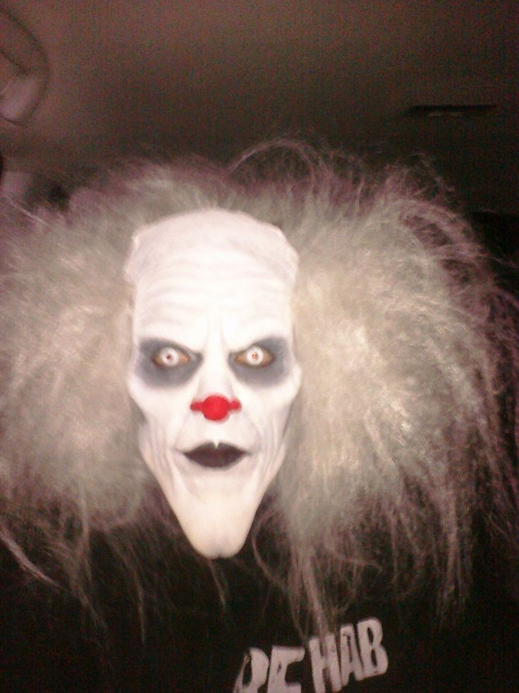 Wickedly scary/evil clown special effects makeup idea / Looks great paired with all-white contact lenses => http://www.pinterest.com/pin/350717889705763104/