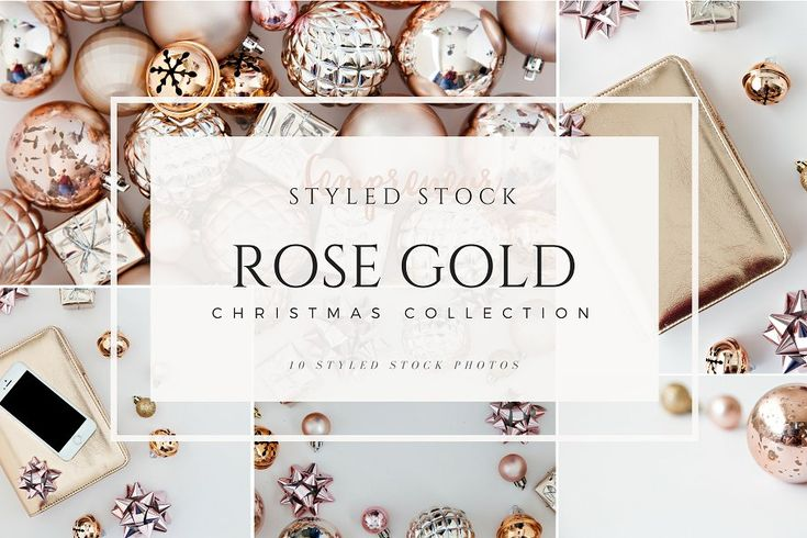 Rose Gold Christmas Stock Photos by Fempreneur Styled Stock on @creativemarket