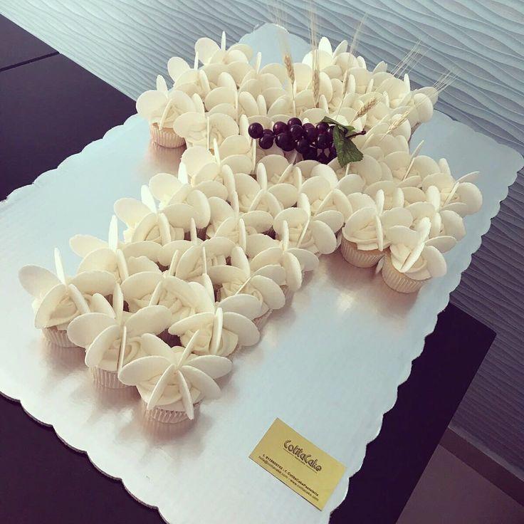 Pastel de cruz primera comunión ostias uvas espigas ...