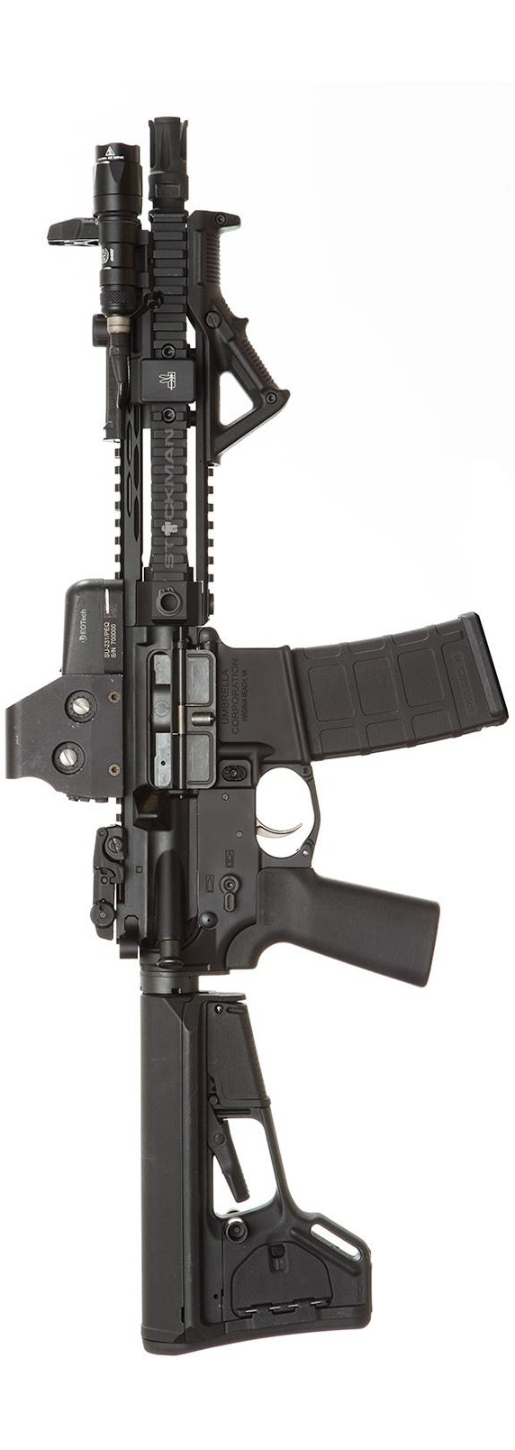 UCWRG Lower and Rifle Grip on a little SBR. Photo by Stickman.