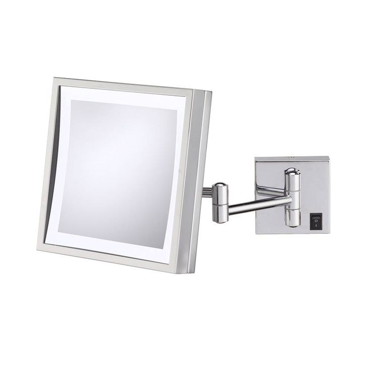 Wall Mounted Magnifying Mirror With Light Square