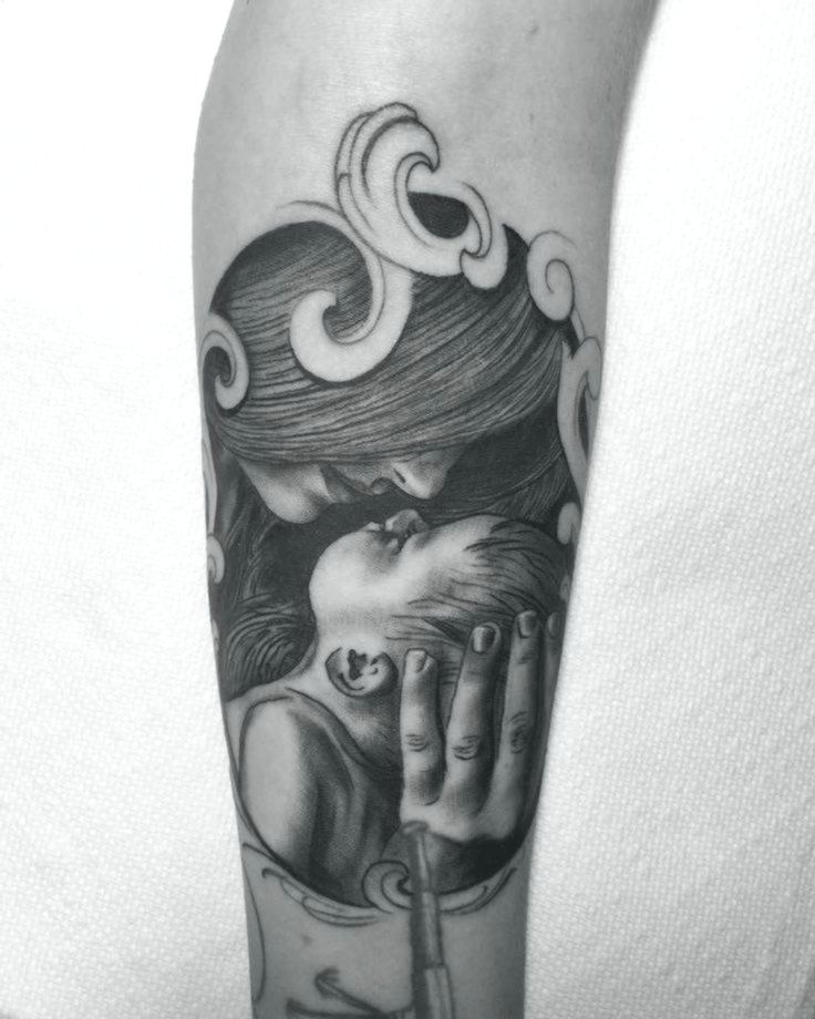 Mutter Kind Tattoo
