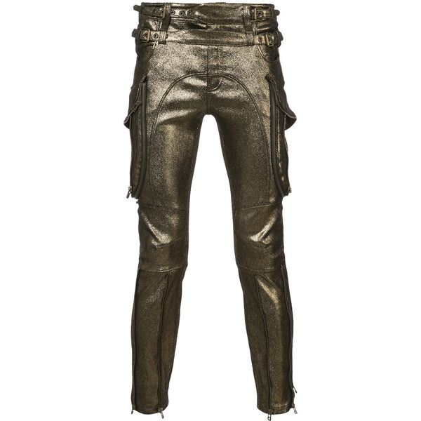 Faith Connexion metallic biker trousers (£3,985) ❤ liked on Polyvore featuring men's fashion, men's clothing, men's pants, men's casual pants, metallic, mens suede pants, mens bike pants and mens metallic pants