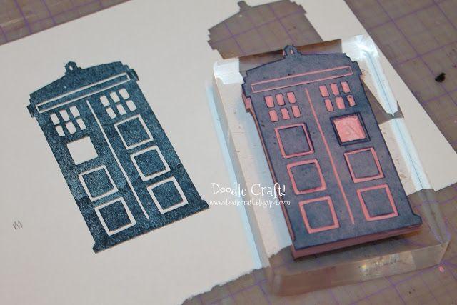 Doodle Craft...: Custom Rubber Stamps! My Tardis!