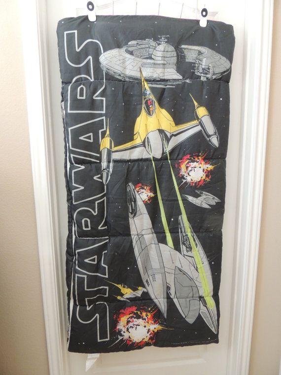 Vintage Star Wars Sleeping Bag. Rare 30 X 57 by austinbaubles