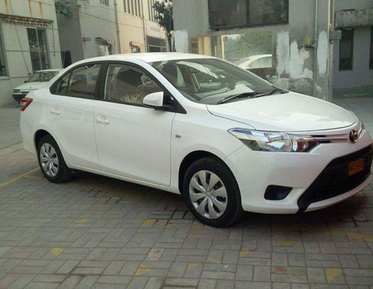 Toyota Vios Sedan Spotted Testing in India Front Side Profile