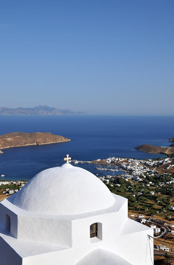 View of Livadi port, Serifos, Greece