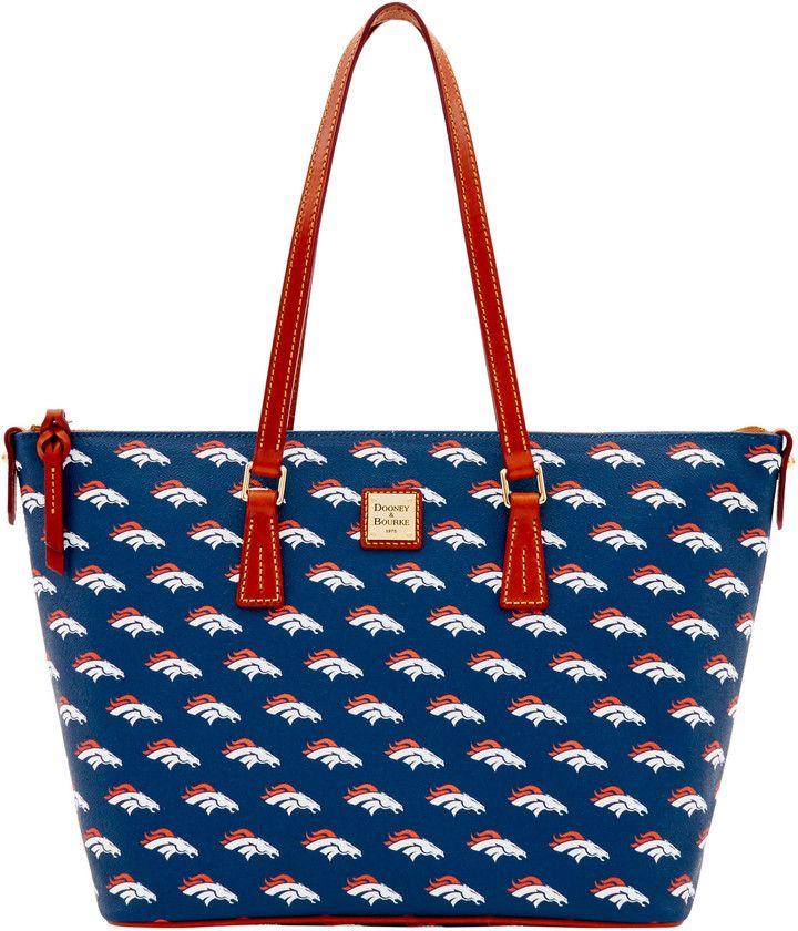 Dooney & Bourke NFL Broncos Zip Top Shopper Tote