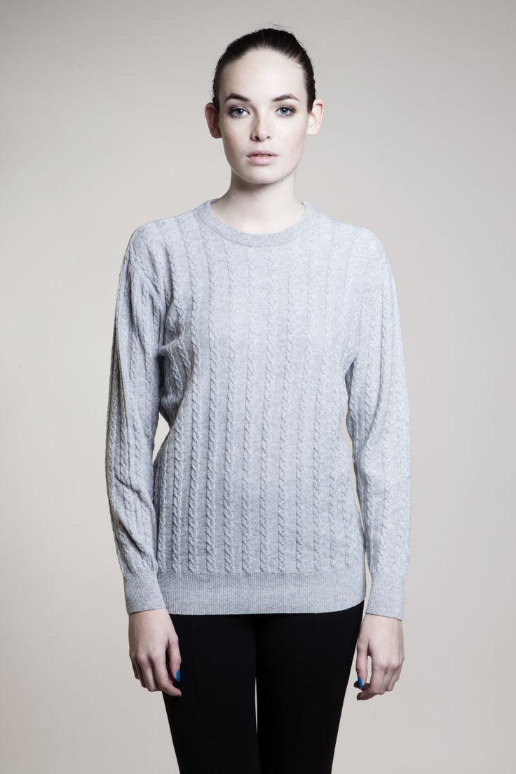 Ida cable knitted sweater - 10% cashmere, 90% lambswool - MASKA www.maska.se