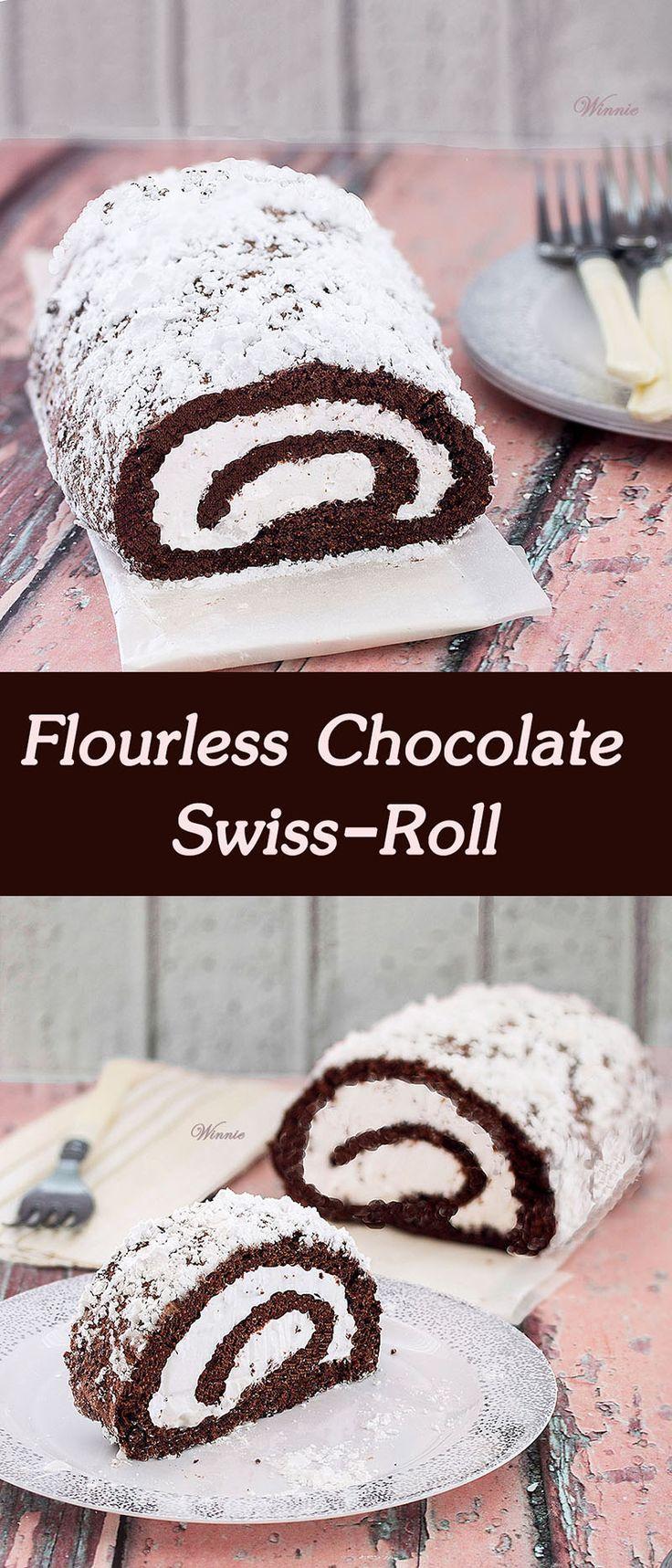 Flourless Chocolate Swiss-Roll - Gluten free | Recipe | Gluten free ...