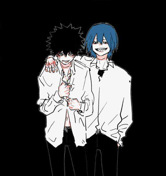 Villain AU   Inverted Katsuki Bakugou and Eijirou Kirishima   BNHA