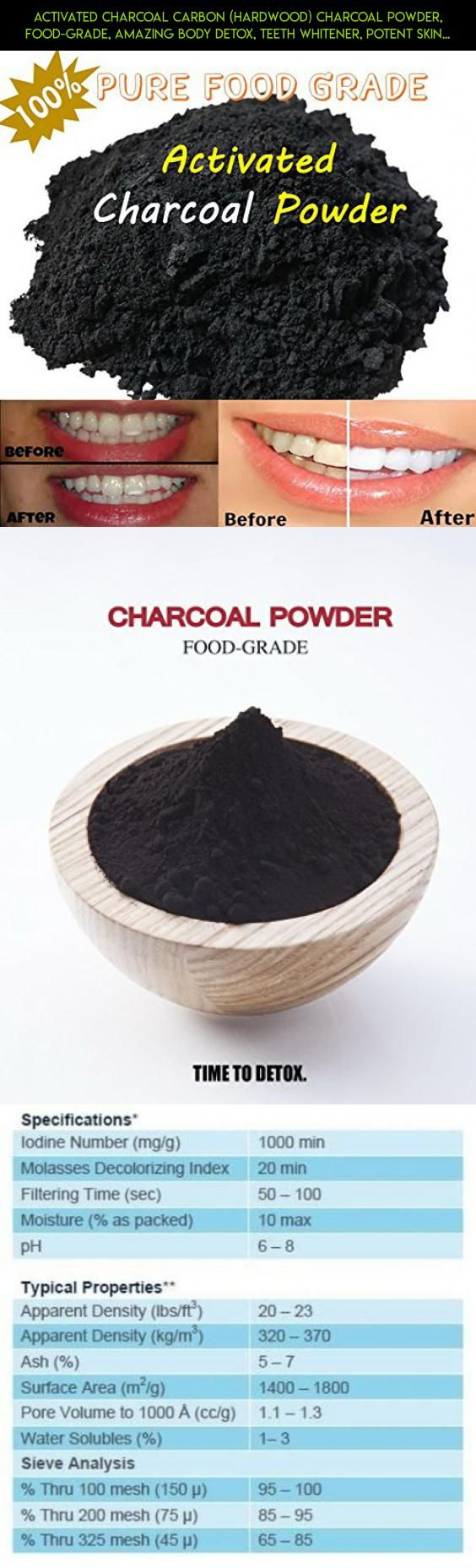 Activated Charcoal Carbon (Hardwood) Charcoal Powder, Food-Grade, Amazing Body Detox, Teeth Whitener, Potent Skin and Digestive Cleanser, Impurity Filter, Odor Eliminator, IMPROVE Overall Health #vinegar #technology #kit #drone #products #camera #shopping #fpv #plans #tech #racing #gardening #parts #gadgets