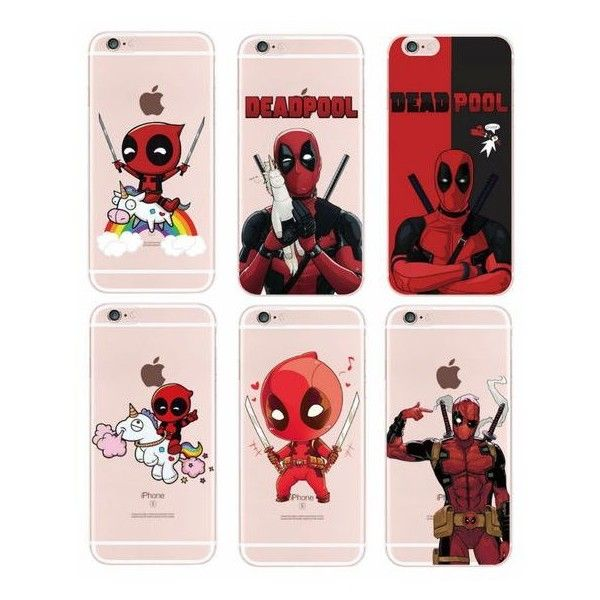 marvel For iPhone 4S 5S 6S 6Plus 7Plus 7 Samsung Galaxy Deadpool Movie... ❤ liked on Polyvore featuring accessories, tech accessories and comic book