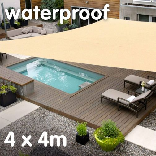 Waterproof Shade sail 4 x 4m Square