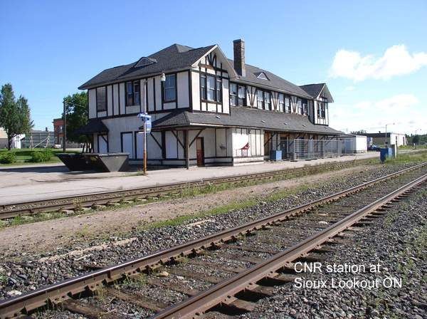 CNR Station. At one time, this was a significant stop for the cross Canada passenger train.