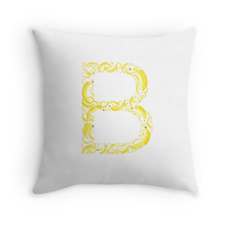 B for Banana Smile #redbubble #pillows #pillow #banana #case #bag #sticker #yellow #smile #cute #letter