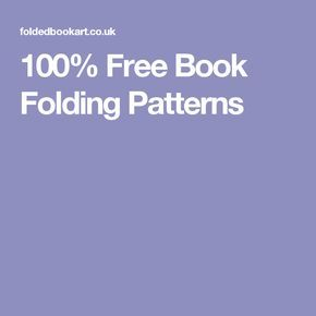 100% Free Book Folding Patterns