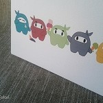 Ninja ice-cream card