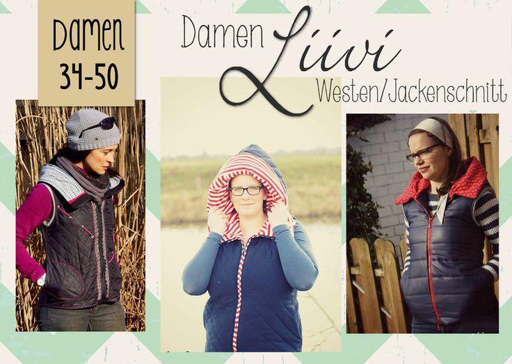 """E-Book Steppweste/Jacke """"Liivi""""  Damen Gr. 34-50 von FeeFee  auf DaWanda.com"""