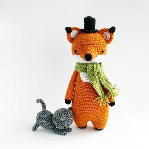 Tall amigurumi fox crochet project by Little Bear Crochets | LoveCrochet