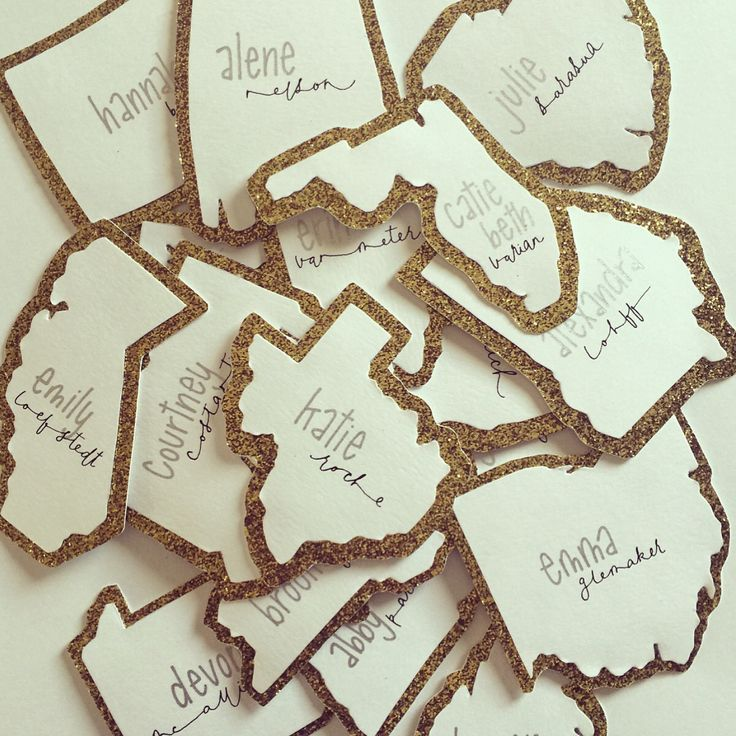 """Custom """"Hometown State"""" 2016 Sorority Name Tags 