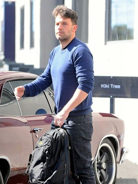 Actor Ben Affleck is all smiles as she stops by a business meeting in Santa Monica, California on February 18, 2016. Ben just returned from a trip to Montana with ex-wife Jennifer Garner, Tom Brady and his wife Gisele Bundchen.