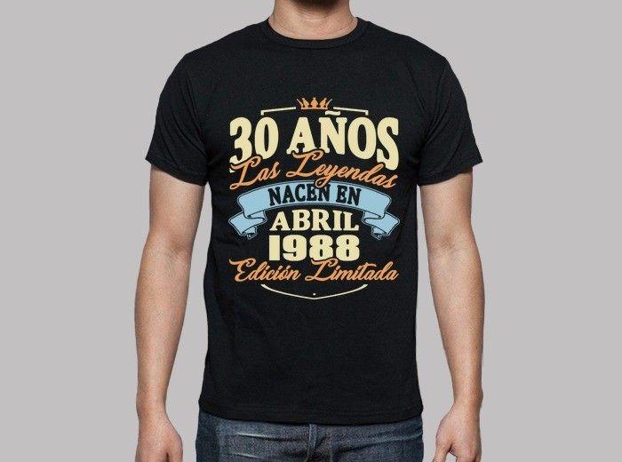 Camiseta 30 años abril 1988. - nº 1758097 - Hombre 7ea54f7ffc2
