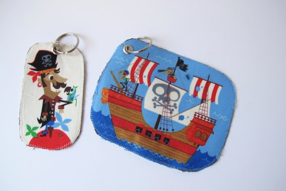 #Bag Tags for back to #school featuring #pirate by LaLaLaDesigns, $4.50