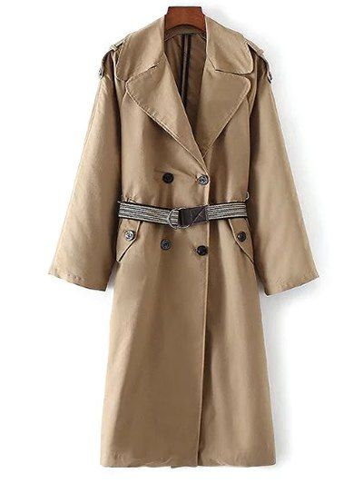 Wide Lapel Double Breasted Trench Coat #men, #hats, #watches, #belts, #fashion, #style