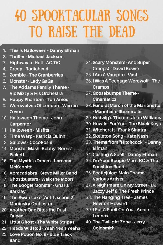 Halloween Playlists 2020 Haunting Halloween Playlist: 40 Spooktacular Songs to Raise the