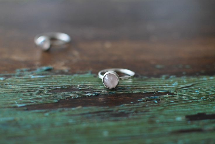 Sakura silver ring.  Details: Rose quartz, Sterling silver, handmade in Stockholm, hammered finish (it glitters in the sun!)