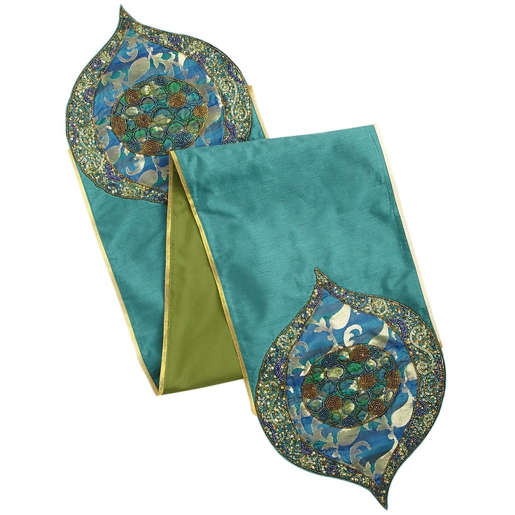 Superior Pier 1 Emerald Brocade Table Runner