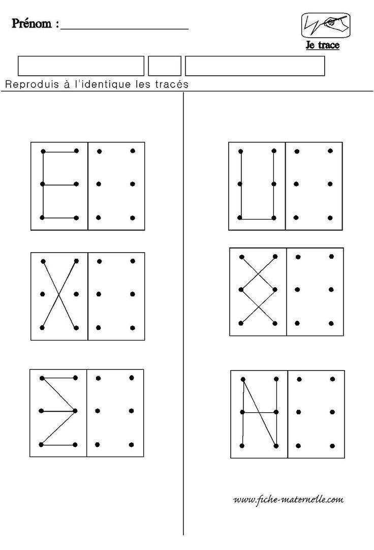 Estructuración espacial. Copiar según modelo