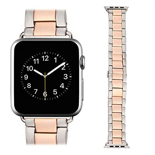Apple Watch Band, AWStech New 38mm Stainless Steel Replacement Smart Watch Band Wrist Strap Bracelet with Butterfly Buckle Clasp for Apple Watch All Models - Rose Gold Silver https://www.carrywatches.com/product/apple-watch-band-awstech-new-38mm-stainless-steel-replacement-smart-watch-band-wrist-strap-bracelet-with-butterfly-buckle-clasp-for-apple-watch-all-models-rose-gold-silver/ Apple Watch...