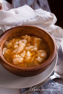 Sopa de ajo, del blog Bea, recetas y mas