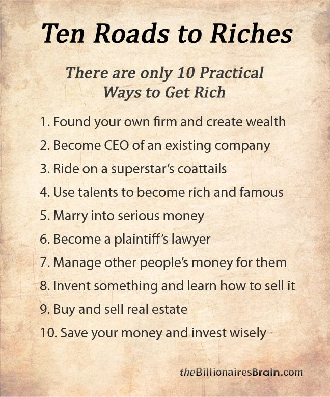 the ten roads to riches - Google Search